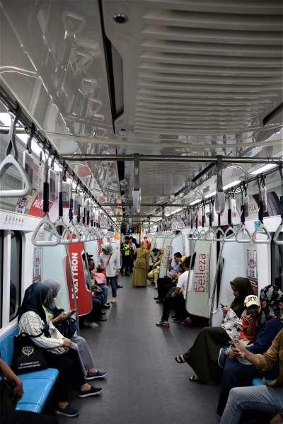 今年通車的雅加達地鐵。圖/想想論壇