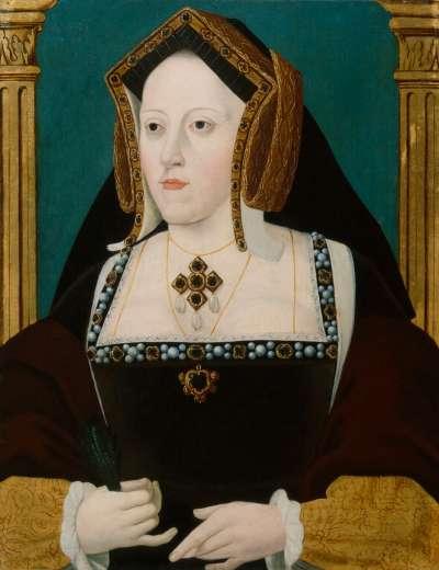 英國國王亨利八世的第一任妻子「亞拉岡的凱薩琳」(Catherine of Aragon),亨利八世為了與她離婚不惜創立英國國教,並與羅馬教廷決裂。(維基百科公有領域)