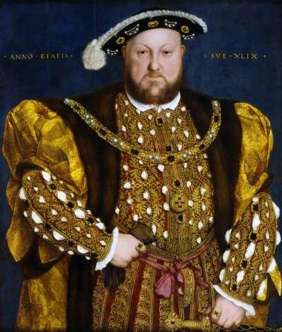 英國國王亨利八世以風流好色出名,為了與安妮‧博林結婚不惜與羅馬教廷決裂,卻在3年後將她斬首。(維基百科公有領域)