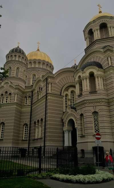拉脫維亞首都里加的東正教教堂。圖/想想論壇