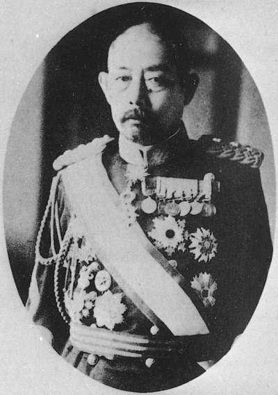 第七任臺灣總督—明石元二郎(Portrait of Akashi Motojiro,1864~1919,北九州福岡人)。(作者賈忠偉提供)