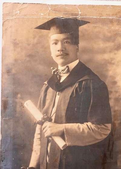 1920 美國芝加哥大學獲神學碩士照(簡又文談太平天國,新銳文創)