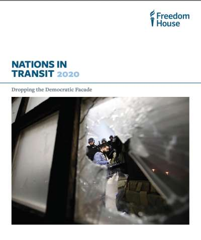自由之家的《2020年轉型國家》(Nations in Transit 2020)報告封面。