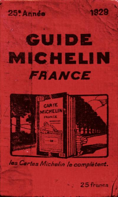 1929年出版的《米其林指南》。(圖/維基百科)
