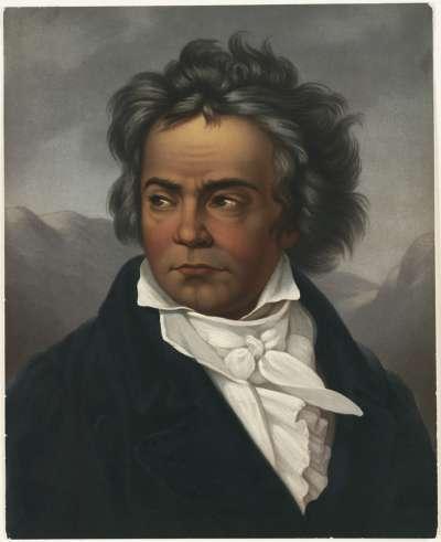 貝多芬肖像畫。約作於1861至1897年間。(Boston Public Library@flickrBYCCSA2.0)