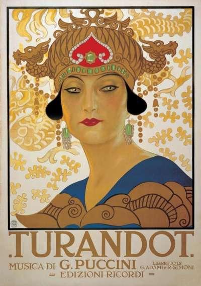 經典歌劇《杜蘭朵公主》的海報(Wikipedia/Public Domain)