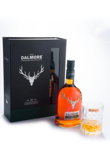 大摩15年單一麥芽蘇格蘭威士忌限量德國進口水晶威杯禮盒(圖/尚格酒業提供)