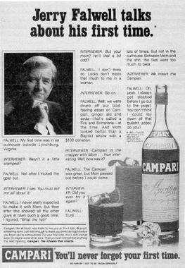 《好色客》對知名電視佈道牧師法威爾的惡搞「廣告」。(維基百科/公用領域)