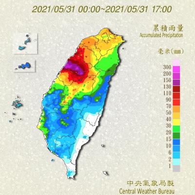 累積雨量(圖/取自中央氣象局官網)