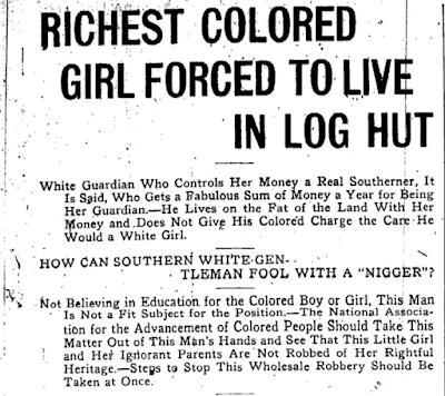1918年,《芝加哥後衛報》揭開莎拉的鉅額財產在白人監護人的管理下,莎拉只能住在簡陋木屋,並且沒有受到妥善教育。(圖/翻攝網路)