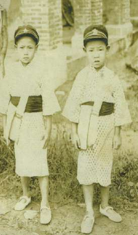 1930年左右,李登輝與哥哥李登欽。(總統府)