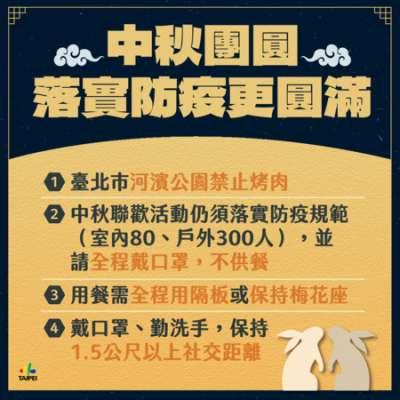 台北中秋防疫圖卡(圖/台北市政府提供)