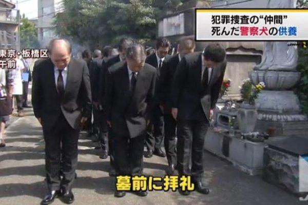 「感謝一同作戰的夥伴們」 日本警視廳舉行警犬追悼式