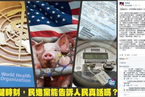 從WHA、缺電到美豬……洪秀柱:民進黨別再閃躲 誠實面對過去謊言