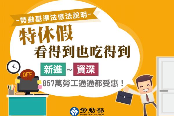 臉書貼出4張圖表 勞動部:勞基法修法後 857萬勞工都受惠