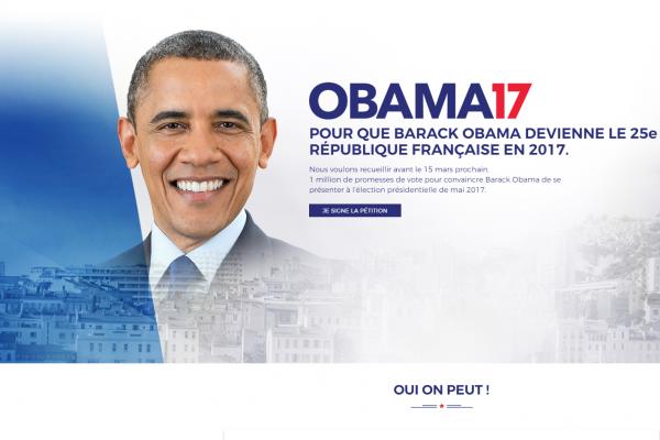 實在沒有理想候選人 法國民眾發起請願 想找歐巴馬入主愛麗榭宮!