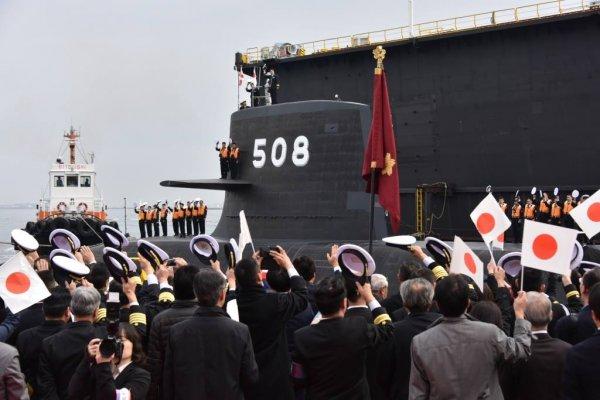 可連續潛航近月》海上自衛隊第8艘蒼龍級正式服役 日本現役潛艦增為17艘