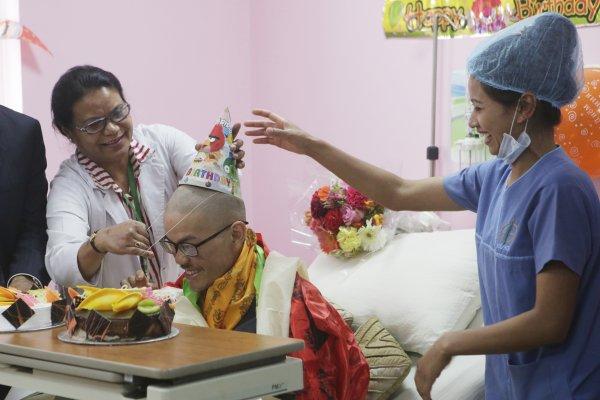 梁聖岳缺乏蛋白質 返抵新竹住院療養