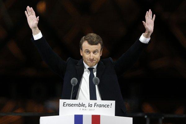 【白宮義見】支持者歡喜慶功 反對民眾縱火洩恨 弭平社會裂痕成法國新總統馬克宏的首要之務
