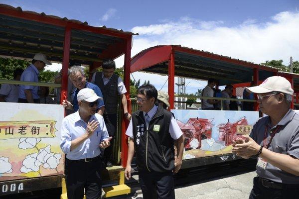 交通部長賀陳旦視察雲林糖鐵觀光列車計畫 打造觀光、文化與旅遊新亮點