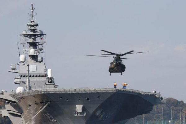 日本準航母「出雲號」在南海練兵 邀東協官員觀摩