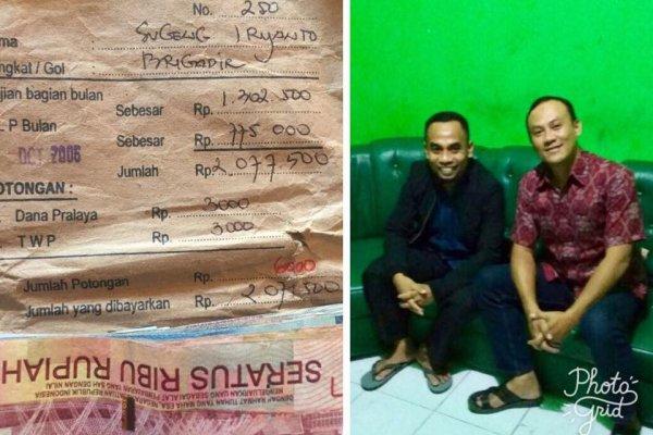 印尼善心老師拾獲警察薪水袋 苦尋11年終於還給失主
