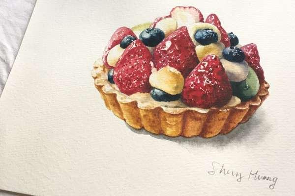 少女心爆發!看起來超好吃的草莓塔、藍莓鬆餅,她的工作讓人變成甜點控!
