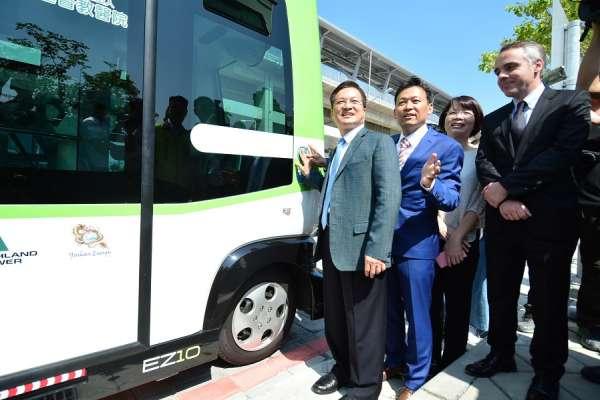 綠能無人自駕小巴士 彰化展開首航