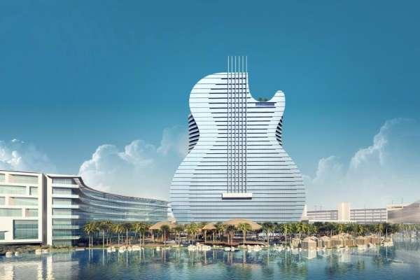 世上最大吉他就是它!賭場大亨超瘋狂,最美沙灘上建大飯店,吸睛外表絕對掀熱潮!
