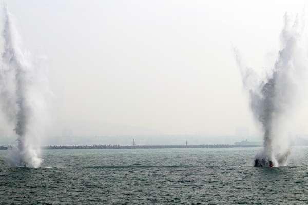 上雷刀、割索、爆破!保衛領海無死角 海軍展示掃雷、獵雷戰力