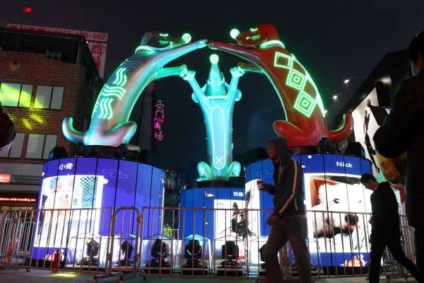 台北燈節燈光秀預演 炫麗完美登場