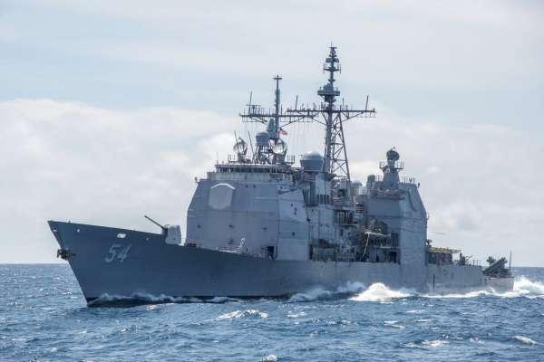 美軍飛彈巡洋艦「安提坦號」穿越台灣海峽!太平洋艦隊證實:驅逐艦「柯蒂斯.威爾伯號」同行