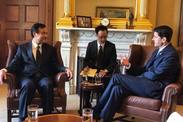 台灣旅行法通過後 台美兩國國會議長華府對談