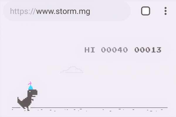 Chrome 10週年》離線小恐龍遊戲出現「驚喜小彩蛋」!
