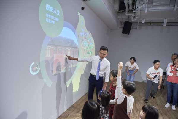 互動投影讓城市願景動起來 林智堅推「互動治理術」孩子也秒懂