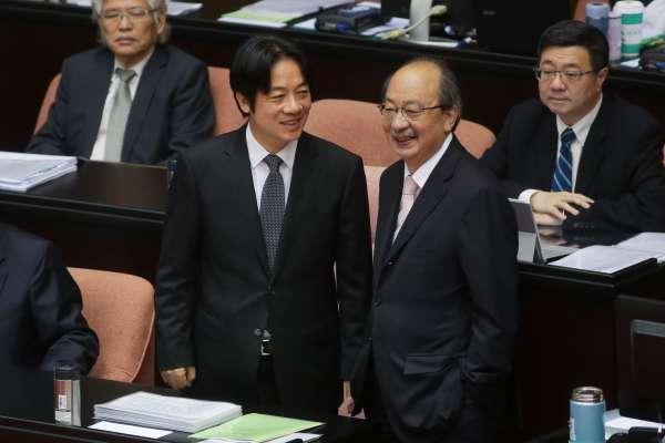 夏珍專欄:賴清德留任,蘇嘉全辭議長的敗選檢討神邏輯