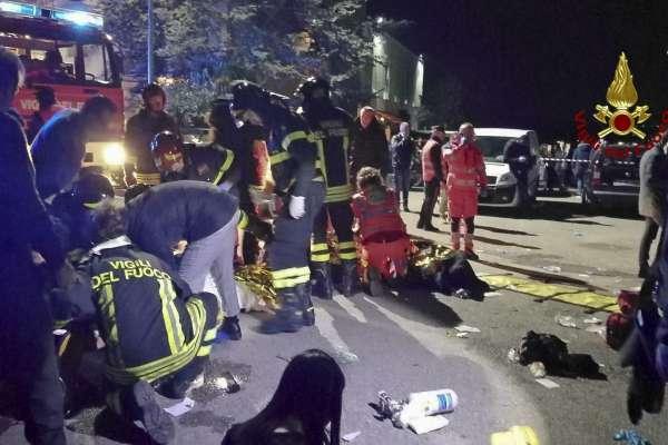 亂噴胡椒噴霧闖大禍?義大利夜店爆踩踏事故 至少6人慘遭踐踏而死