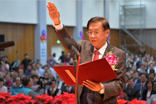 南投縣長林明溱連任就職 承諾拚經濟、拚福利、拚永續
