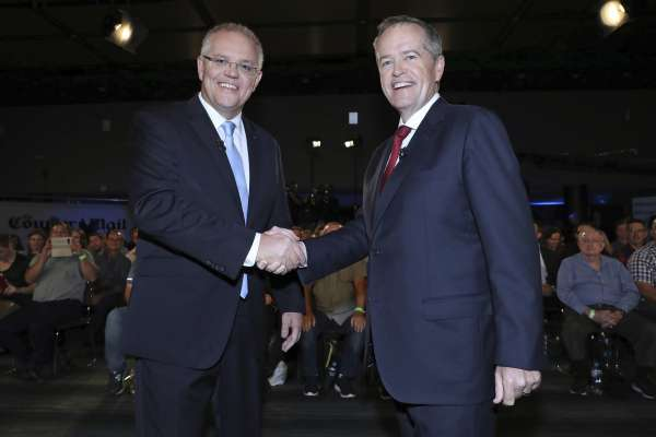 澳洲大選》莫里森、蕭頓開通微信帳號 爭取華裔選民支持