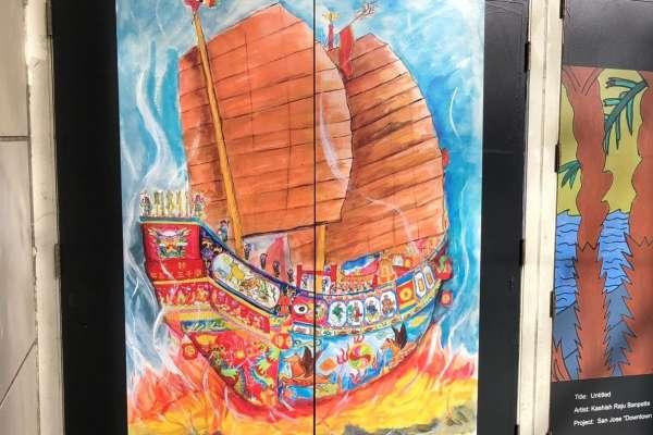 南市建興國中學生畫作 入選美國聖荷西市區畫展