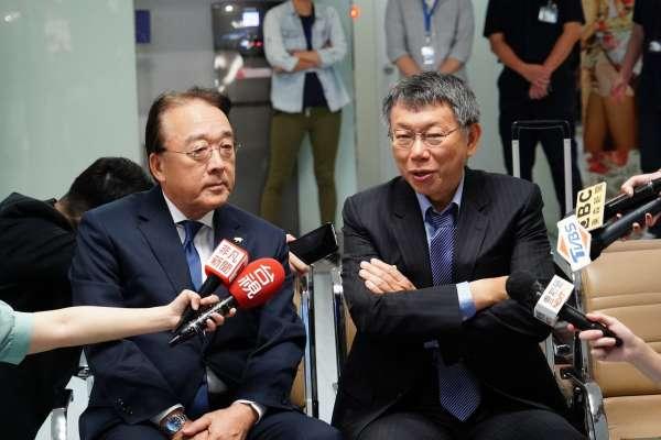 「總統級禮遇!」柯文哲訪日 日駐台代表親自送機