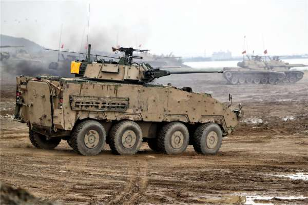 為漢光演習揭幕!陸海空三軍聯合預演 雲豹30公厘鏈砲車現身操演吸睛