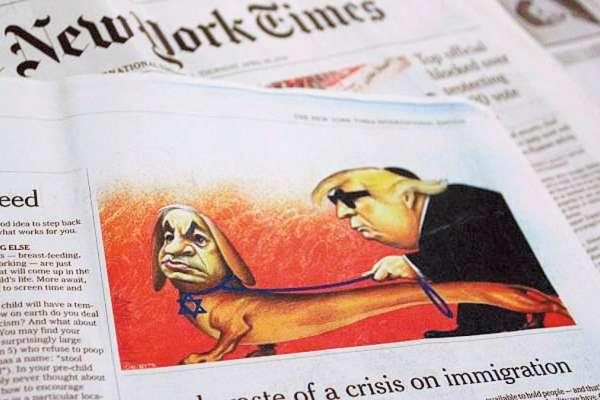 新新聞》諷川普卻挨轟反猶太,《紐約時報》停刊政治漫畫道歉