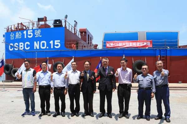 落實船隊本土化 台灣第一艘大型風電工作船出航