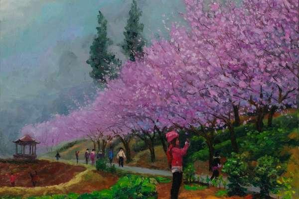 新北客家文化園區油畫個展 感受自然真摯之美