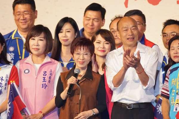 「韓國瑜就是愛喝兩杯,但不會壞事」洪秀柱:不管喜不喜歡他,都應該挺國民黨提名的參選人