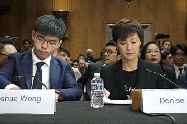 何韻詩、黃之鋒赴美國國會作證:通過《香港人權與民主法案》對香港人民非常重要