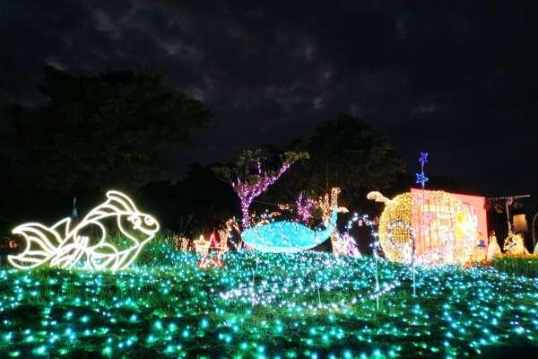 快來打卡 蘭陽燈飾布置點燈越夜越美麗