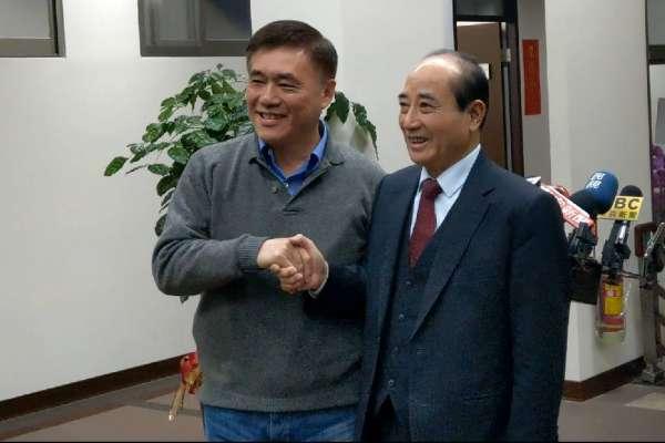 國民黨主席補選》郝龍斌拜會尋求支持 王金平:看未來發展情勢再決定