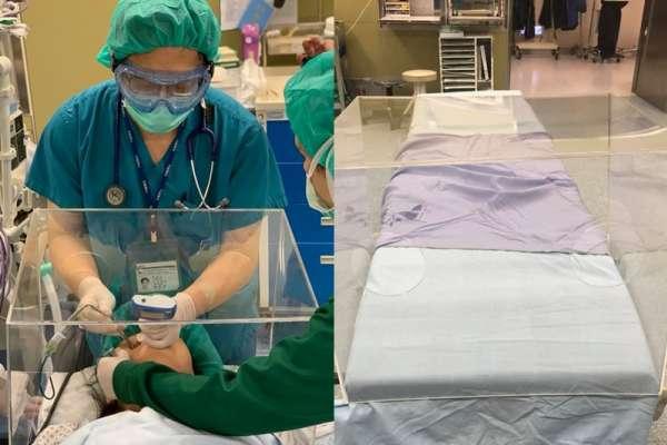 台灣醫生設計醫用「防疫箱」爆紅被20國採用!美國醫院大讚:可讓醫護減少95%飛沫傳染